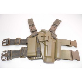 Paddle & Belt holster leg Beretta 92 tan