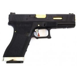 Pistola E Force EU17 bk (black slide and gold barrel) [WE]
