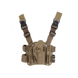 Paddle & Belt holster leg G17/G18C/G19 tan