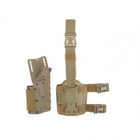 Holster ambidextrous adjustable tan