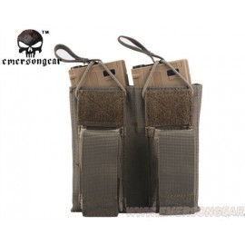Double Open Top Magazine Pouch + Pistol fg