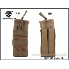 Single Mag Pouch Open Top Modular M4 tan [Emerson]
