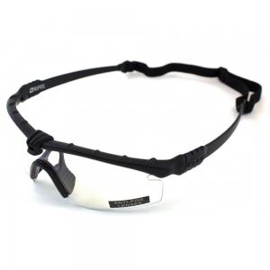 Óculos pretos com lente tranparente