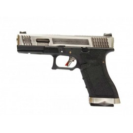 Pistola EU17 E Force bk (silver slide / silver barrel) [WE]