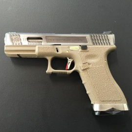 Pistola EU17 E Force tan (silver slide and silver barrel) WE