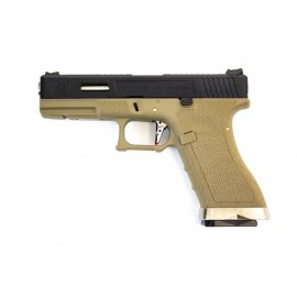 Pistola EU17 E Force tan/bk WE