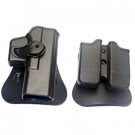Holster and Magazine Carrier f Glock bk