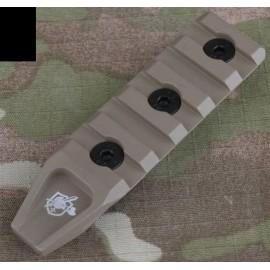 5 Slots Picatinny Rail Section f Key-Mod HandGuard bk