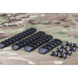 Polymer Rail Set (4pcs) For Ergonomic Front HandGuard bk [BD]