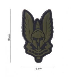 Patch 3D PVC Spartan green
