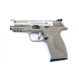 Pistola E Force Big Bird FDE Vented silver slide/gold barrel WE