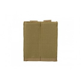 Elastic Doublel Magazine Pouch for Pistol tan [8Fields]