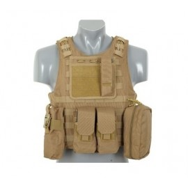 Colete AAV FSBE Lightweight Assault System tan