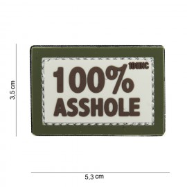 Patch 3D PVC 100% Asshole tan/od