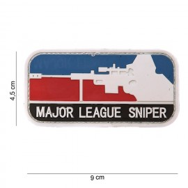 Patch 3D PVC Major League Sniper red/blue