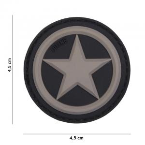 Patch 3D PVC USA Star grey