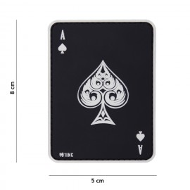 Patch 3D PVC Ace of Spades bk