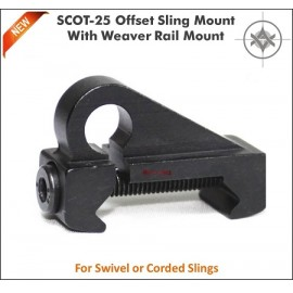 Offset Sling Swivel Picatinny Mount