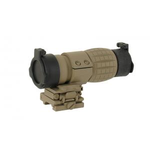 Magnifier 3X flip to side mount tan [Aim-O]