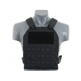 Simple Plate Carrier w Dummy Soft Armor bk [8Fields]