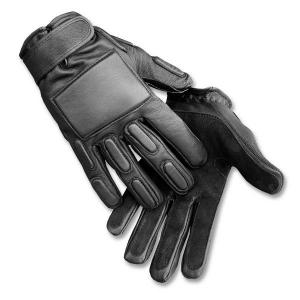 Gloves Leather Combat bk XL