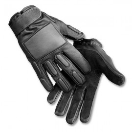 Gloves Leather Combat bk S