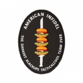 Patch rubber American Infidel burger