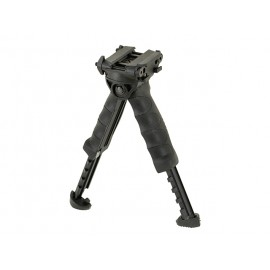 Ergonomic Foregrip with built-in Bipod - Black
