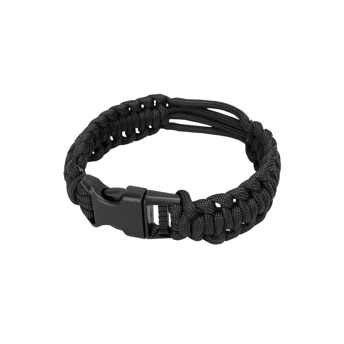 Clock Paracord Survival Bracelet bk M