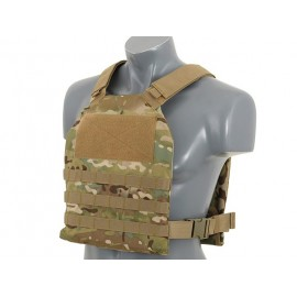 Simple Plate Carrier w Dummy Soft Armor Inserts Multicam [8Fields]