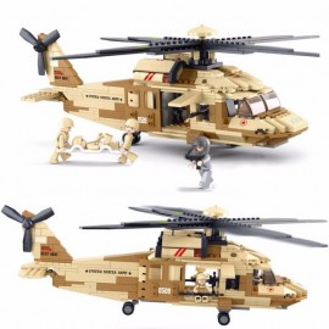 Blocos de Black Hawk Helicopter (439pcs) [SLUBAN]