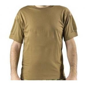 T-Shirt w Pockets & Velcro tan L
