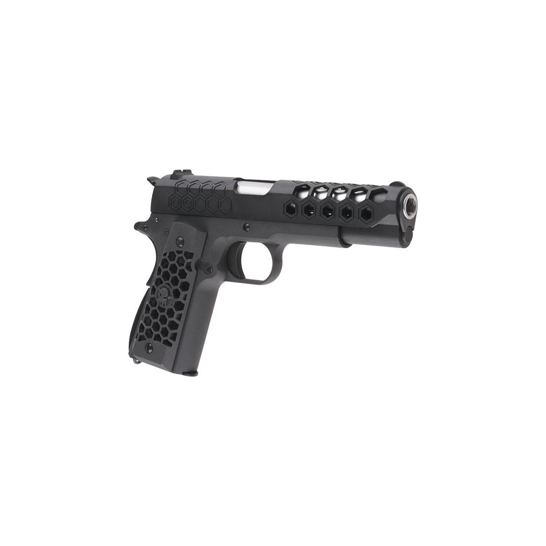 Pistola 1911 Hex Cut V3 bk [WE]