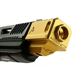 RWA Agency Arms 417 Compensator Gold (14mm CCW)