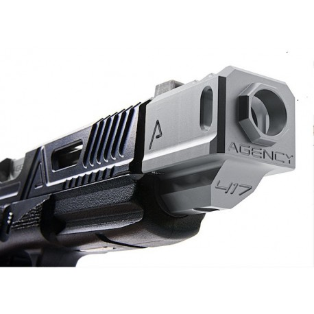 Agency Arms 417 Compensator Silver (14mm CCW)