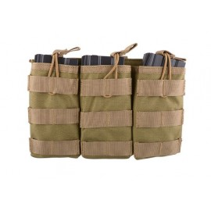 Triple Open Pouch for AK/M4/G36 Magazines tan [Primal Gear]