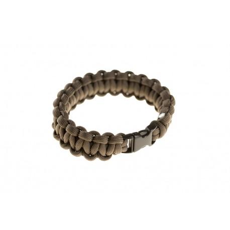 Paracord Bracelet Compact tan [Invader Gear]
