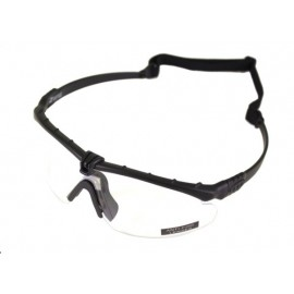 Tactical Battle Glasses Black Frame / Clear Lenses Insert [NP]
