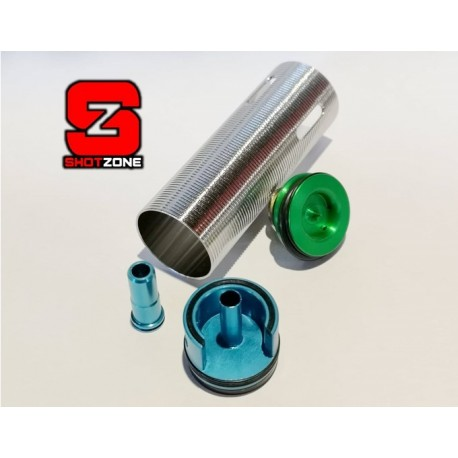 Ergal Tune-Up Kit (Cylinder/Cylinder Head/Piston Head/Nozzle) for M4/M16 Inner Barrel 301/400mm [FPS]