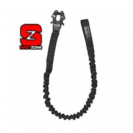 WARRIOR PERSONAL RETENTION LANYARD WITH FROG CLIP - black