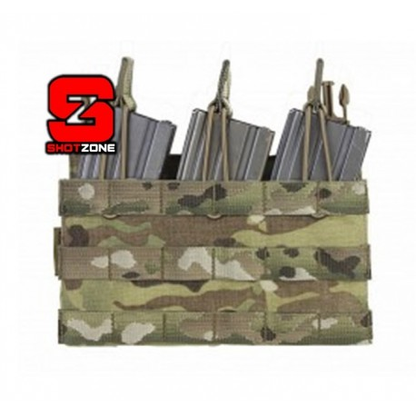 WARRIOR REMOVABLE TRIPLE MOLLE OPEN POUCH FOR RPC - MULTICAM