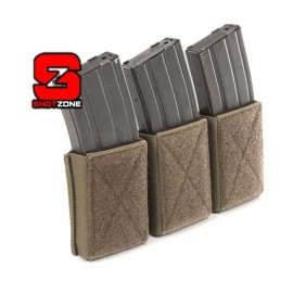 Velcro Triple Elastic Magazine 5.56mm Pouch Assault Systems coyote [Warrior]