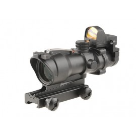 Scope 4x32C RedFiber + Micro Red Dot bk [Theta Optics]