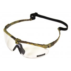Tactical Battle Glasses Camo Frame / Clear Lenses [NP]