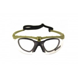 Tactical Battle Glasses Green Frame / Clear Lenses [NP]