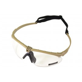 Tactical Battle Glasses Tan Frame / Clear Lenses [NP]
