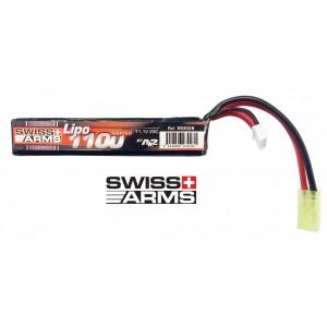Bateria 11.1v 1100mAh 25C Stick Short (3x 6.1x21x130) Li-Po [Swiss Arms]