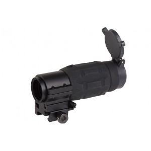 AP Style 3X Magnifier w/ QD Twist Mount bk [Aim-O]