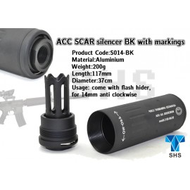 ACC SCAR Silencer with Markings bk [SHS]