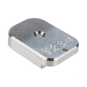 HX CNC Aluminium Baseplate silver [AW Custom]